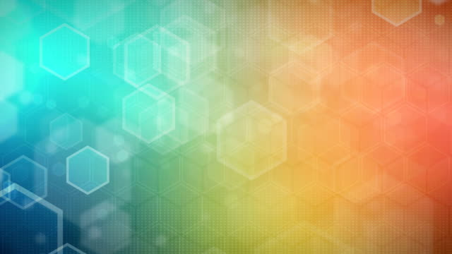 Hexagonal fondo colorido (en bucle) - vídeo
