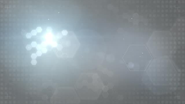 Hexagonal Designed Background Loop - Blue/Grey (FULL HD) video