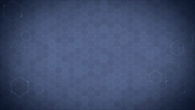 Hexagonal Futuristic Background Loop video