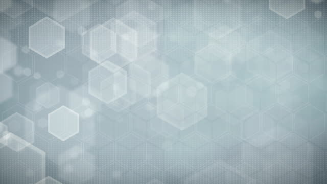 Hexagonal Gray Background (Loopable) video