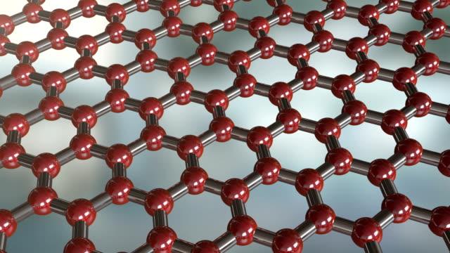 Sechseckige Molekül Hintergrund – Video