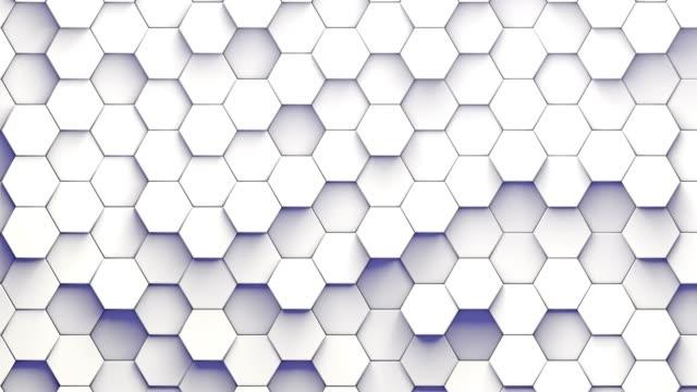 Hexagonal patterns randomly moving Hexagonal patterns randomly moving up and down tile stock videos & royalty-free footage