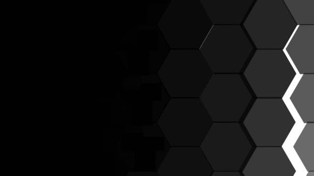 hexagonal transitions - esagono video stock e b–roll