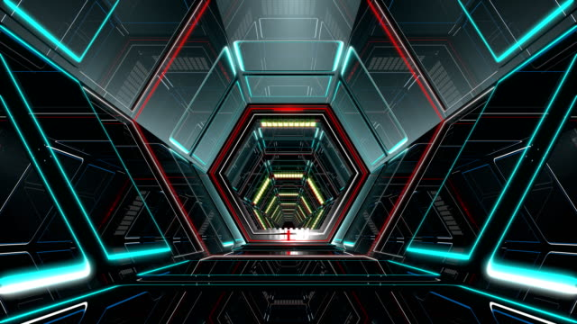VJ Hexagonal Tunnel 4K Ultra HD hexagonal tunnel. High-tech 3D animation. Seamless loop 3D animation for VJ editors, motion designers, visual projections, fashion shows, concert stages, parties, presentations, music clips, video arts or intros mosaic stock videos & royalty-free footage