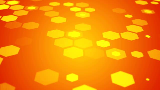 六角形技術のモーション背景抽象科学デザイン - 鎖の輪点の映像素材/bロール