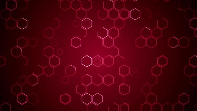 hexagons movimento tecnologico background abstract science design - esagono video stock e b–roll