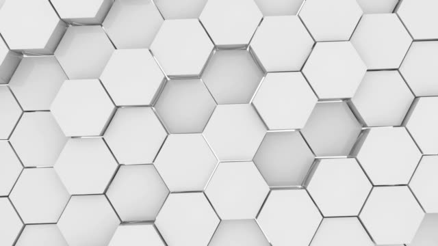 hexagons - esagono video stock e b–roll