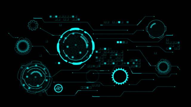 vidéos et rushes de hud salut scifi technologie futuriste éléments - rouage