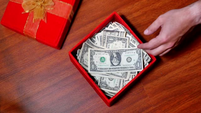 Hidden Present Box of US Currency