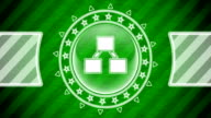 istock Hierarchy icon in circle shape and green striped background. Illustration. 1251607222