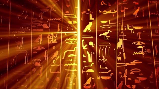 hieroglyfer på forntida egyptisk stencarving bakgrund - egyptisk kultur bildbanksvideor och videomaterial från bakom kulisserna