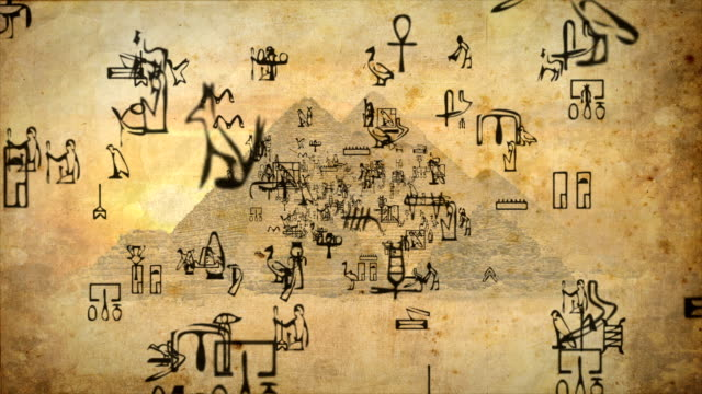 Hieroglyphs zoom out Loopable full HD video