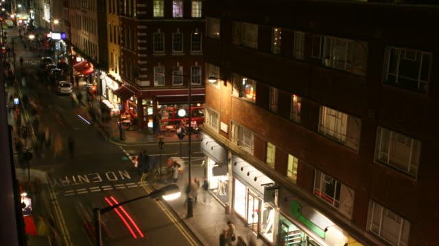 High angle timelapse street