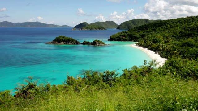 high angle video of Trunk Bay, St.John, US Virgin Islands video