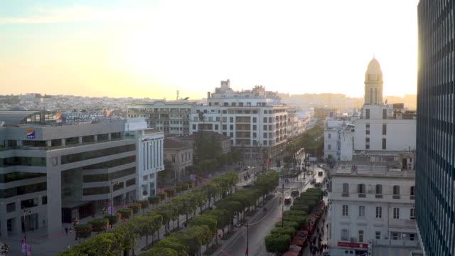 High angle view across Tunis, Tunisia