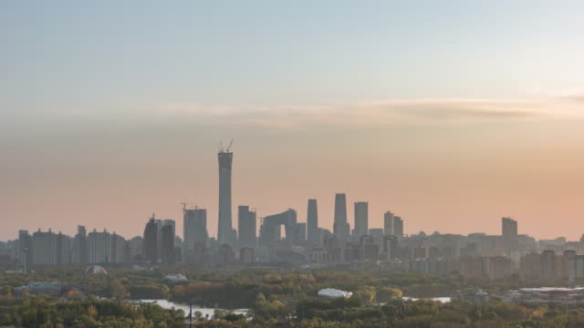T/L HA ZI High Angle View of Beijing Skyline video