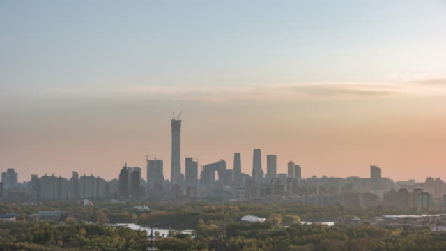 T/L HA High Angle View of Beijing Skyline video