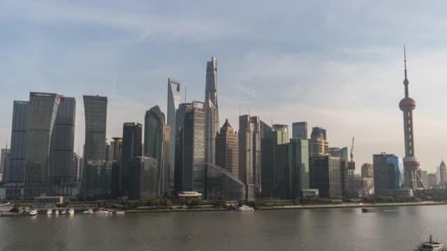 T/L WS HA ZO High Angle View of Downtown Shanghai / Shanghai, China video