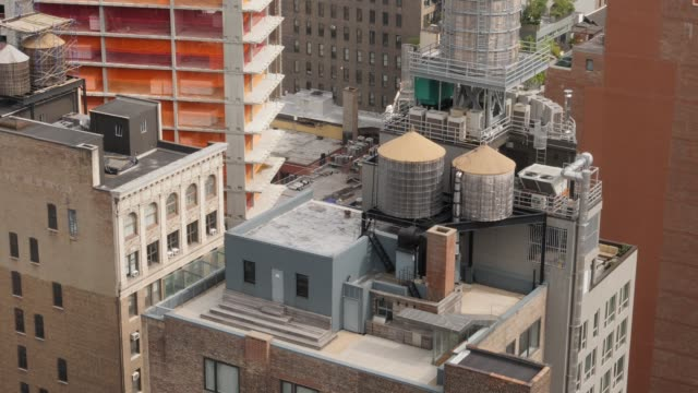 High Angle View of Manhattan Rooftops video