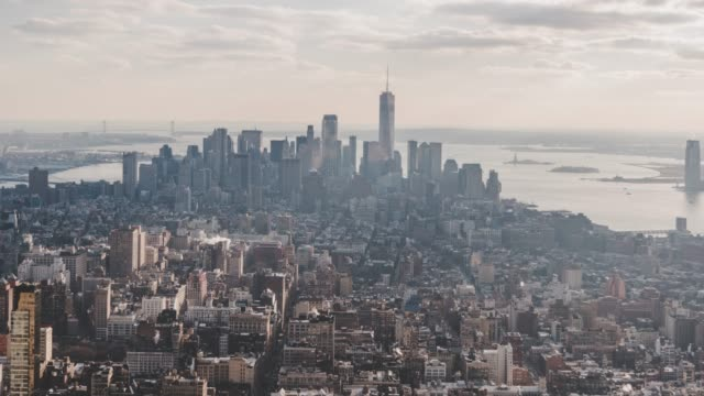 T/L High Angle view of Manhattan Skyline video