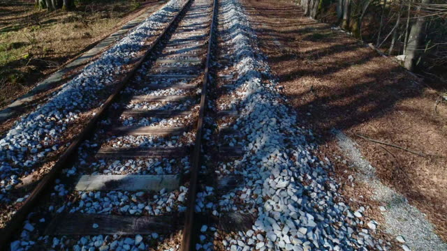 High Angle View of Railroad Tracks Thru Nature High Angle View of Railroad Tracks Thru Nature. railroad track stock videos & royalty-free footage
