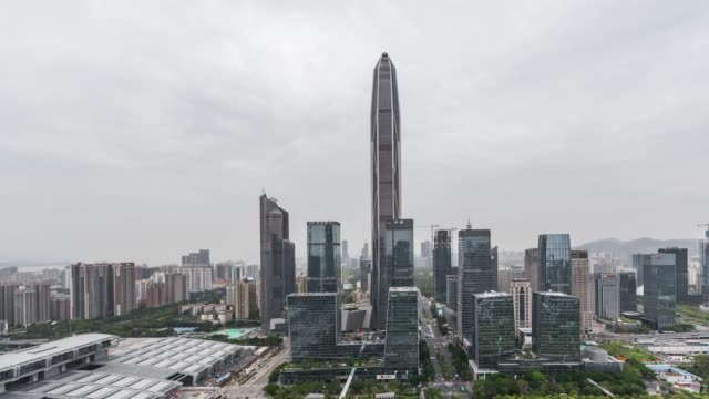 T/L PAN High Angle View of Shenzhen Skyline video