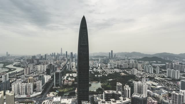 T/L TD High Angle View of Shenzhen Skyline video