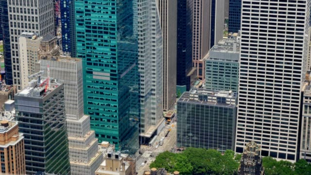High Angle View of Typical Midtown Manhattan Street video