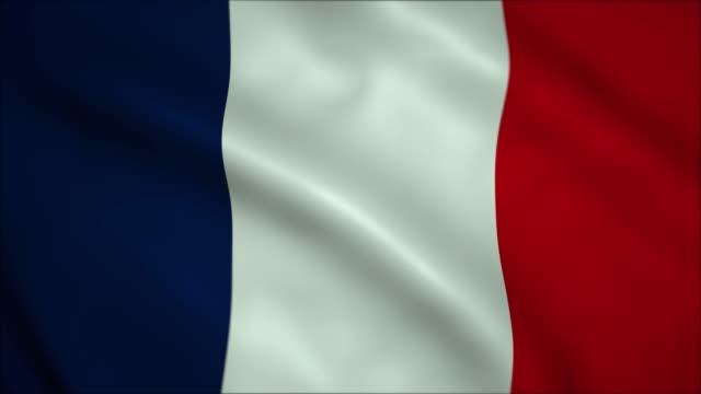 4K High Definition fnimation. Flag of France.