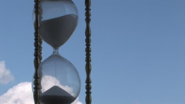 High Definition HD Hourglass Time Lapse with Cloud Background video