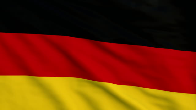 High detail flag of Germany video