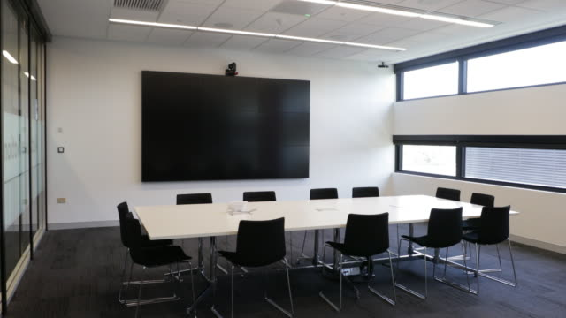 High End Business Facility with an Interactive Information Wall