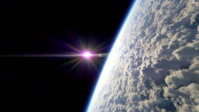hohe fliege über planeten 4k - stratosphäre stock-videos und b-roll-filmmaterial