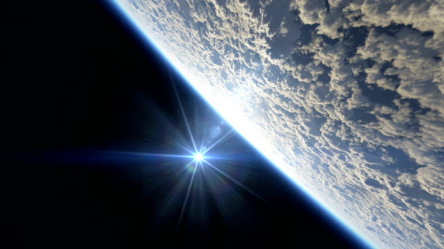 vidéos et rushes de haute mouche au-dessus de la planète 4k - ciel etoile