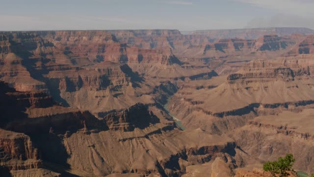 High Gorge Of Grand Canyon National Park And Colorado River At Sunset Panorama