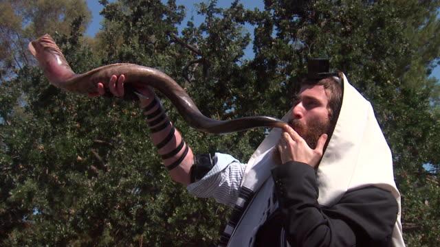 high holiday shofar - rosh hashanah 個影片檔及 b 捲影像