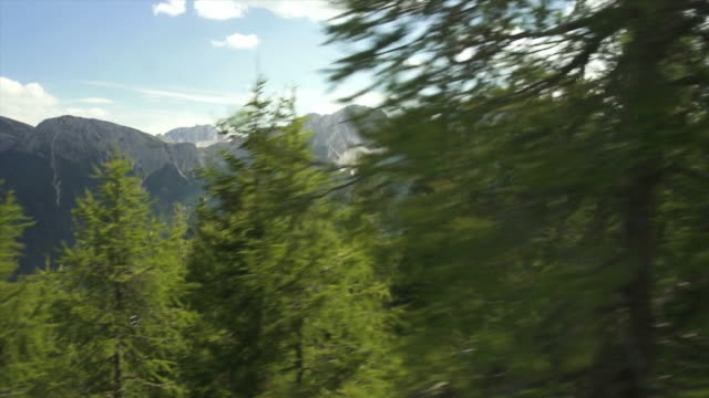 HD High mountain landscape viewed from cable car video