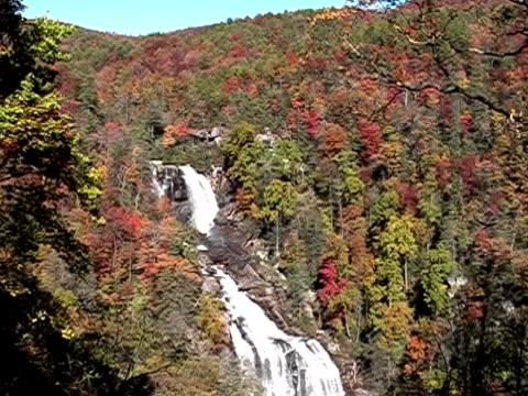 stockvideo's en b-roll-footage met high mountain water falls - natuurgrond