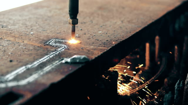 High precision CNC gas cutting metal sheet video