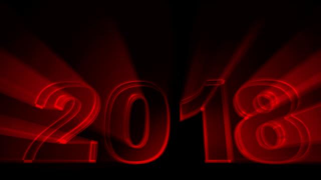 vidéos et rushes de haute qualité 2018 définie nouvel an animation. (rouge, vert, bleu) - 2018