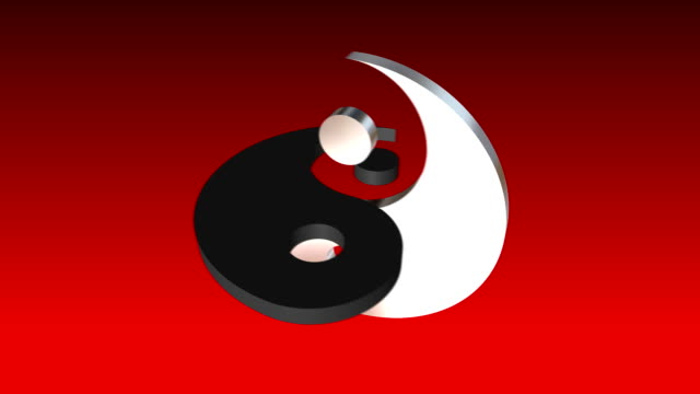 High quality animation of Yin Yang symbol. Loopable. video