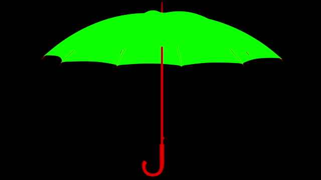 High quality animation open and close isolate umbrella with mask video