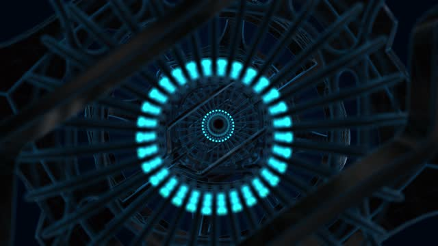 High quality Futuristic scifi tunnel - Neon tunnel 3d render abstract background - seamless loop - endless High quality Futuristic scifi tunnel - Neon tunnel 3d render abstract background - seamless loop - endless image stock videos & royalty-free footage