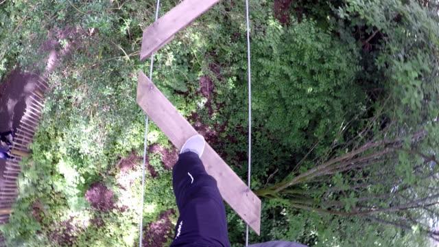 High Ropes / Assault course Zig zag ladder video