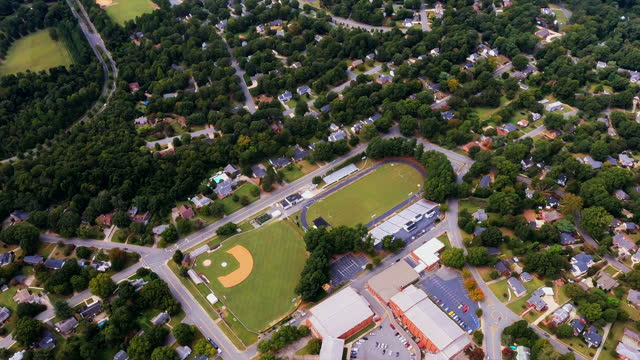 High School, Baseball Field, Track, Football Field, and Homes video