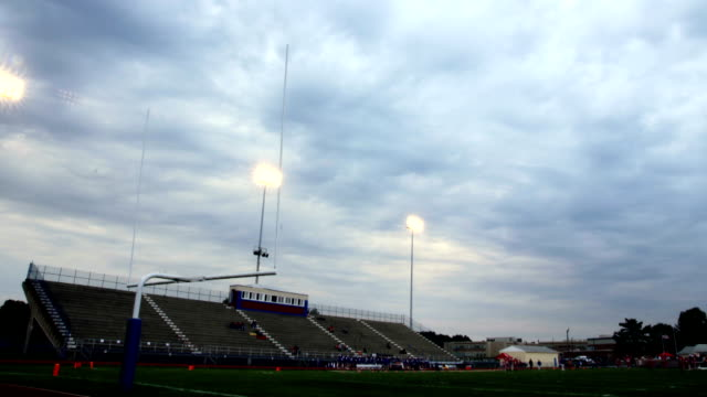 High School Football Stadium Timelapse video