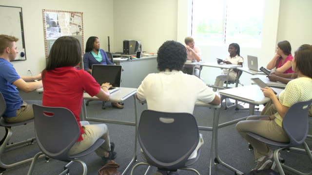 High School Students Taking Part In Group Discussion video