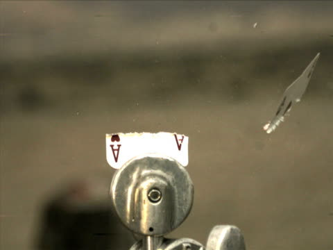 High Speed Camera - Ace of Hearts Shot in Half video