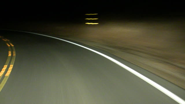 High Speed Drive at Night video