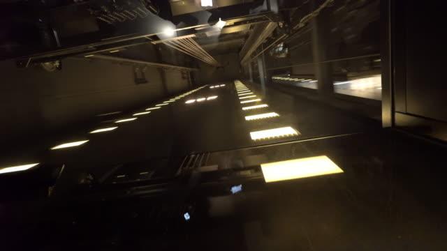 Hohe Geschwindigkeit-Aufzug nach oben – Video